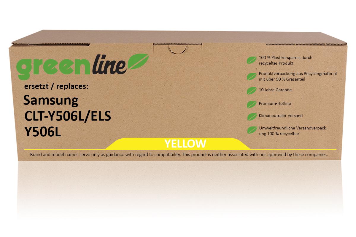 greenline ersetzt Samsung CLT-Y 506 L/ELS / Y506L Tonerkartusche, gelb