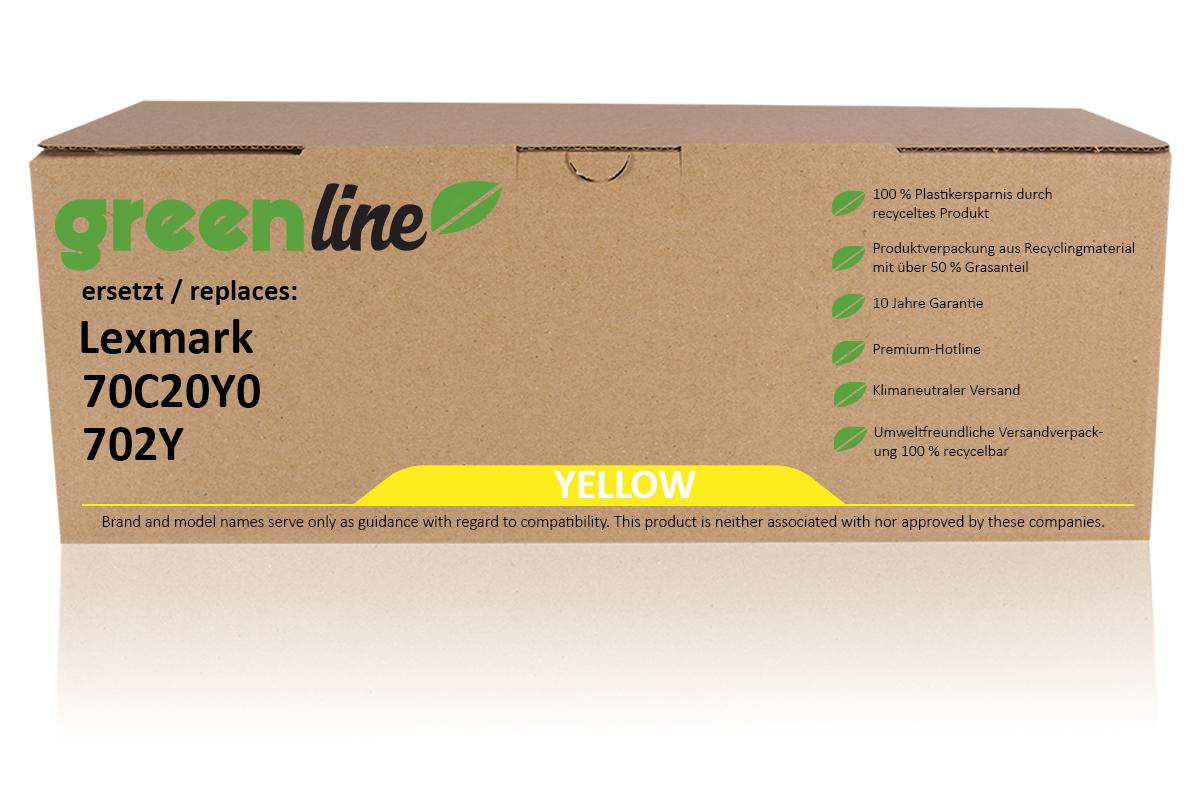 greenline ersetzt Lexmark 70C20Y0 / 702Y Tonerkartusche, gelb