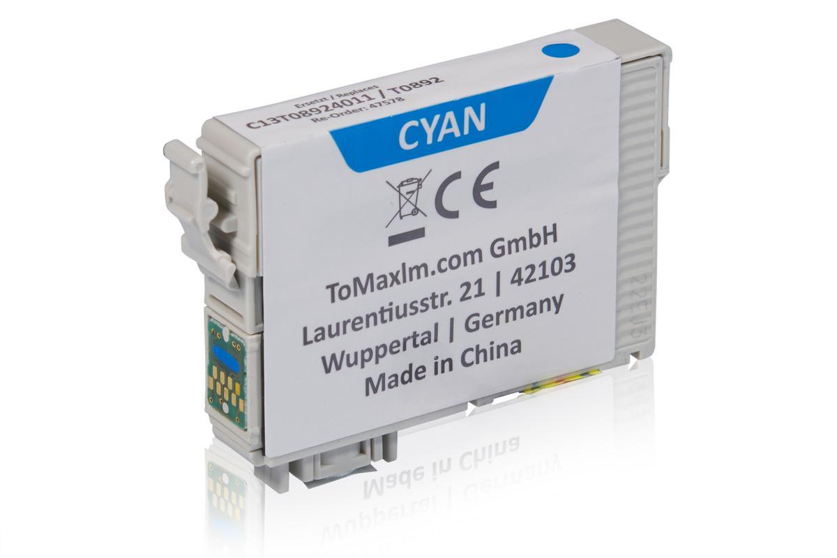 Kompatibel zu Epson C13T08924011 / T0892 XL Tintenpatrone, cyan