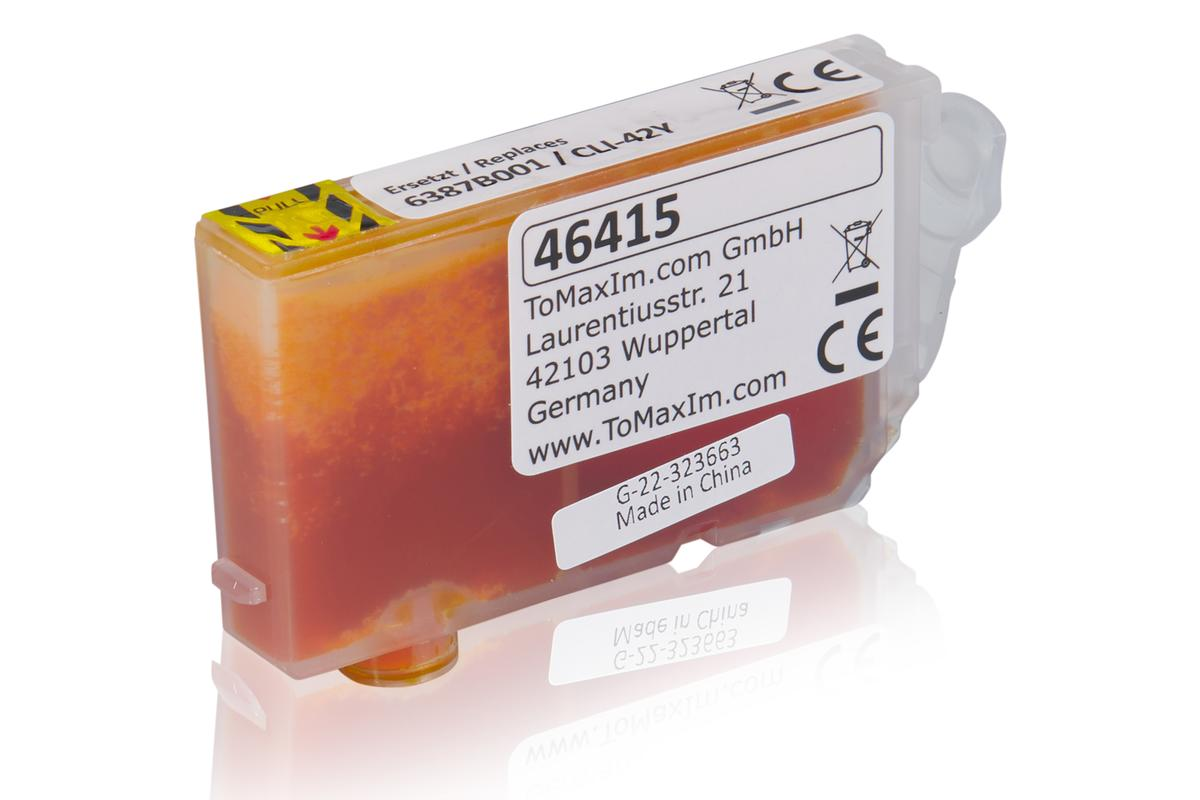 Kompatibel zu Canon 6387B001 / CLI-42Y Tintenpatrone, gelb
