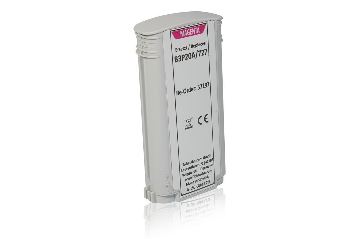 Alternative à HP B3P20A / 727 Cartouche d'encre, magenta
