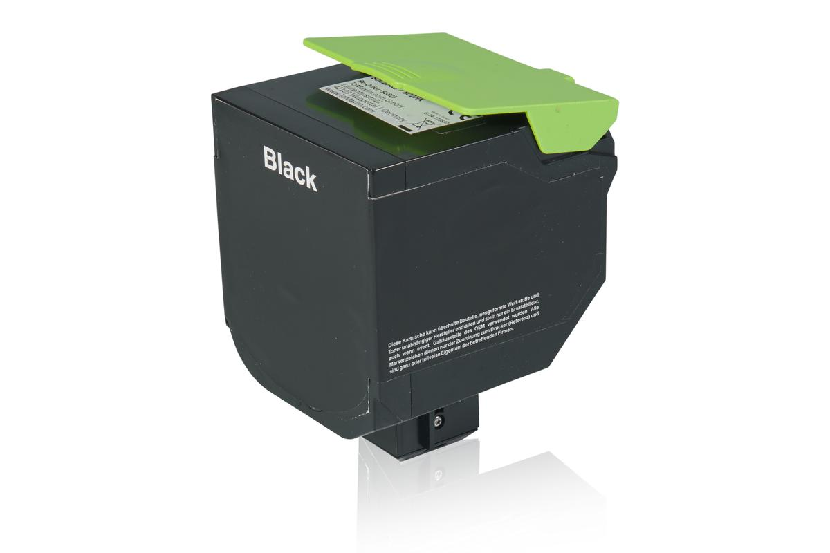 Kompatibel zu Lexmark 80C2HK0 / 802HK Tonerkartusche, schwarz