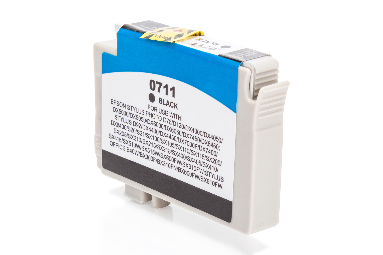 Kompatibel zu Epson T0711 Tintenpatrone schwarz