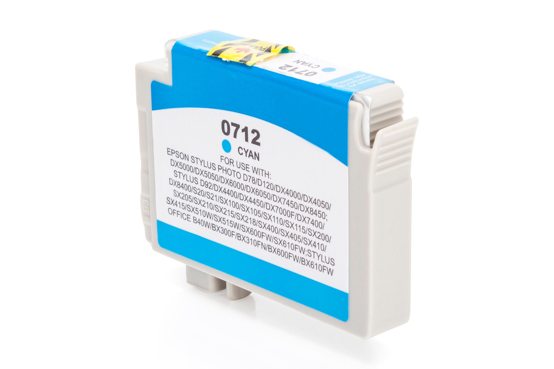 Kompatibel zu Epson T0712 Tintenpatrone cyan