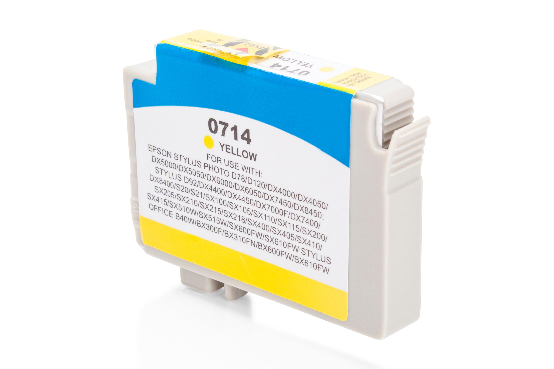 Kompatibel zu Epson T0714 Tintenpatrone gelb