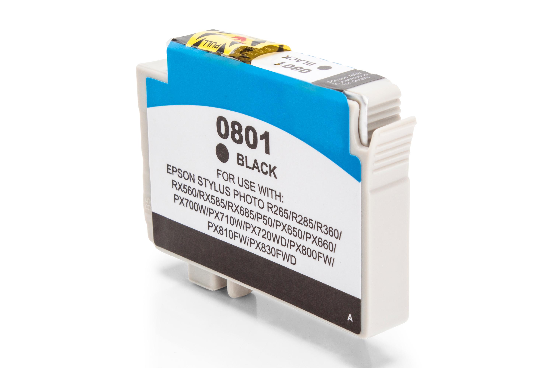 Kompatibel zu Epson C13T08014010 / T0801 Tintenpatrone schwarz
