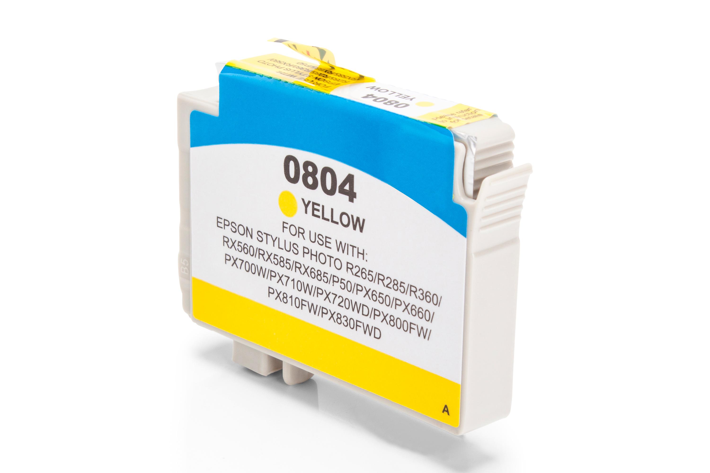Kompatibel zu Epson C13T08044010 / T0804 Tintenpatrone gelb