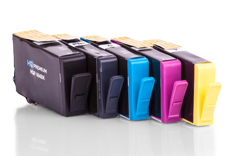 HQ-Premium Tintenpatrone ersetzen HP N9J73AE / 364 Spar-Set (Schwarz, Cyan, Magenta, Gelb)