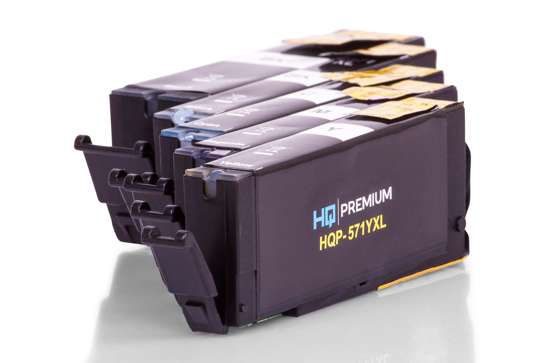 HQ-Premium Tintenpatrone ersetzen Canon PGI-570, CLI-571 Spar-Set (Schwarz, Schwarz Foto, Cyan, Magenta, Gelb)
