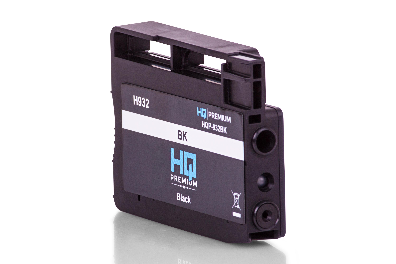 HQ-Premium Tintenpatrone ersetzt HP CN057AE / 932 Schwarz