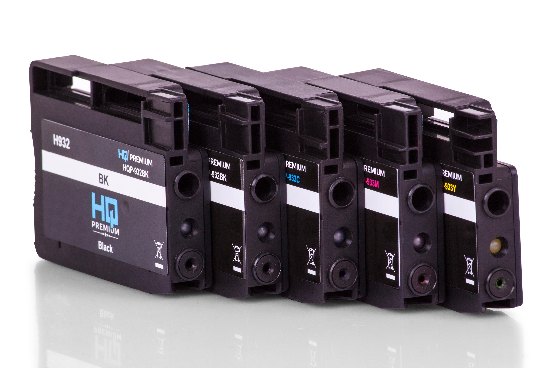 HQ-Premium Tintenpatrone ersetzen HP C2P42AE / 932, 933 Spar-Set (Schwarz, Cyan, Magenta, Gelb)
