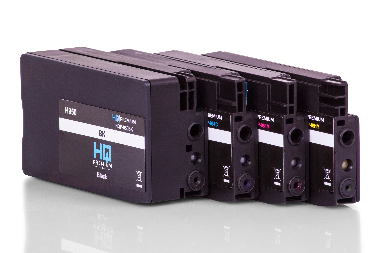HQ-Premium Tintenpatrone ersetzen HP C2P43AE / 951 Spar-Set (Schwarz, Cyan, Magenta, Gelb)