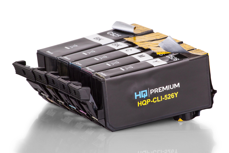 HQ-Premium Tintenpatrone ersetzen Canon PGI-525PGBK, CLI-526 Spar-Set (Schwarz, Schwarz Foto, Cyan, Magenta, Gelb)