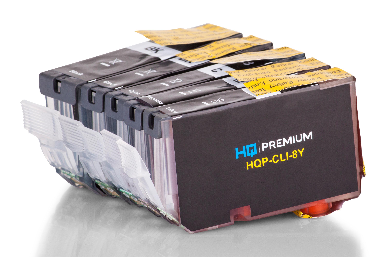 HQ-Premium Tintenpatrone ersetzen Canon PGI-5, CLI-8 Spar-Set (Schwarz, Schwarz Foto, Cyan, Magenta, Gelb)