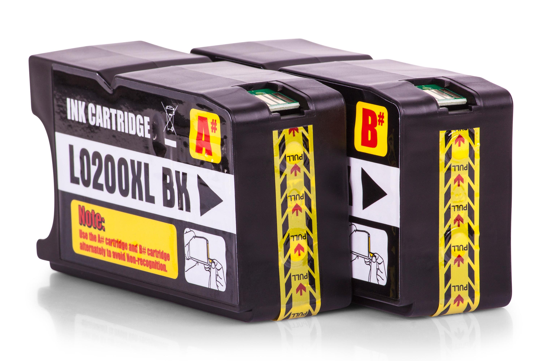 Kompatibel zu Lexmark 14L0174E / 210XL Tinte Schwarz 2er Set