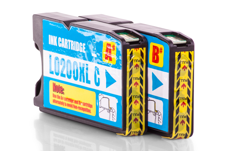 Kompatibel zu Lexmark 14L0175E / 210XL Tinte Cyan 2er Set