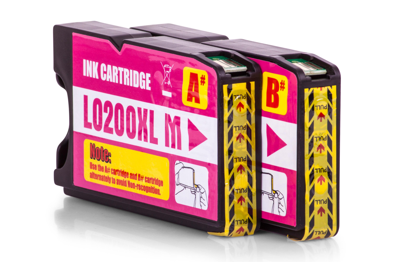 Kompatibel zu Lexmark 14L0176E / 210XL Tinte Magenta 2er Set