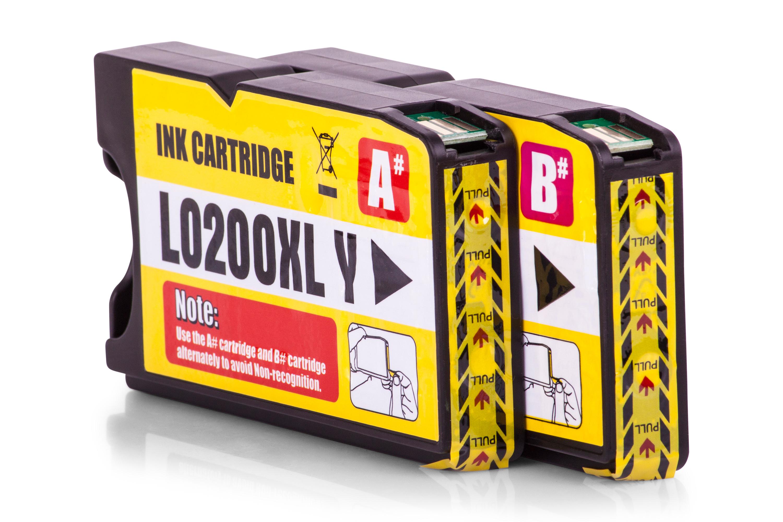 Kompatibel zu Lexmark 14L0177E / 210XL Tinte Gelb 2er Set