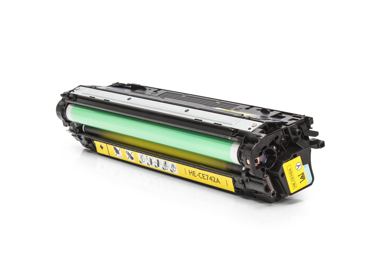 Kompatibel zu HP CE742A Toner gelb