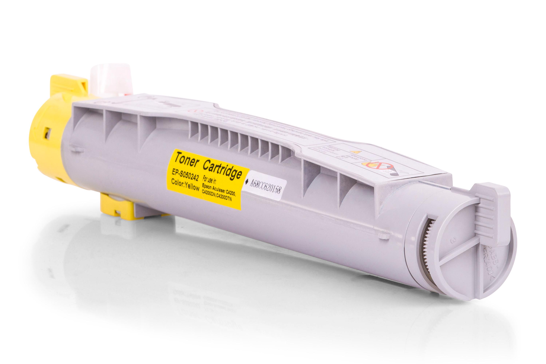 Kompatibel zu Epson C13S050242 / 0242 / C4200 Toner gelb