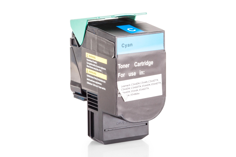 Kompatibel zu Lexmark C544X1CG Toner cyan